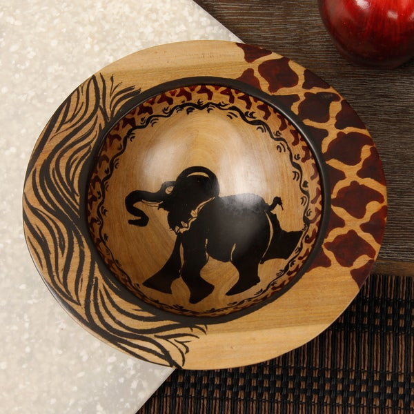 Handcrafted Decorative Animal Bowl (Kenya)