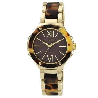 Anne Klein Women's AK-1148BMTO Gold Resin Brown Dial Quartz Watch