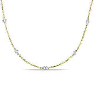Miadora 14k Two-tone Gold 4/5ct TDW Diamond Necklace (G-H, I1-I2)