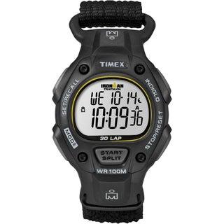 Timex Men's Ironman Traditional 30-Lap Black/Yellow Fast Wrap Strap Watch