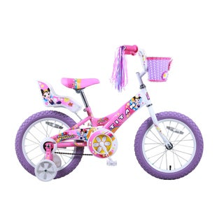 Discount Girls Bikes 16 Inch Titan Flower Princess inch