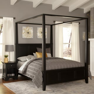 Bedford Queen Canopy Bed and Night Stand