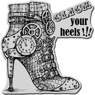 Stampendous Cling Rubber Stamp-Click Heels