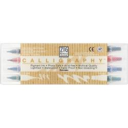 Zig Memory System Dual Tip Calligraphy Marker (Pack of 4)