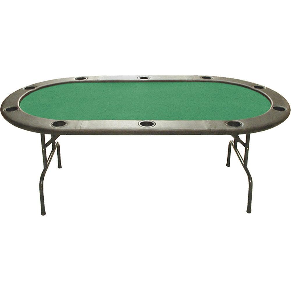 Full-size 83-inch Folding Poker Table with Dealer Kit
