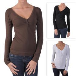 Hailey Jeans Co. Junior's Banded V-neck Top