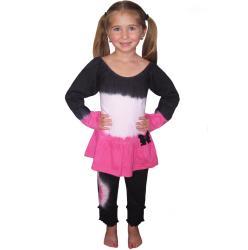 AnnLoren Girl's Tie-dye 2-piece Tunic and Pant Set