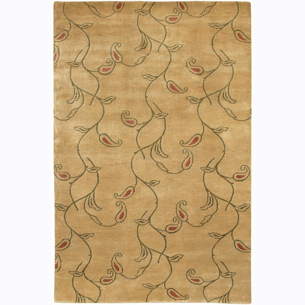 Hand-knotted Mandara Floral Wool Rug (2'6 x 7'6)