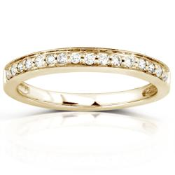 14k Yellow Gold 1/6ct TDW Diamond Wedding Band (H-I, I1-I2)
