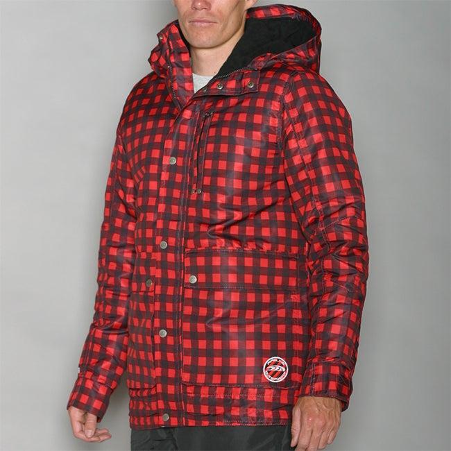 Pipeline Men's Park Check Red Snowboard Jacket