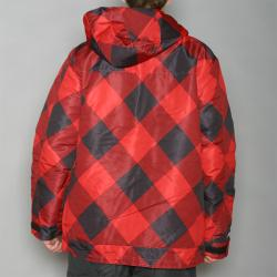 Pipeline Men's Check Line Red Snowboard Jacket