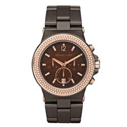 Michael Kors Women's Brown Ceramic Chonograph Watch