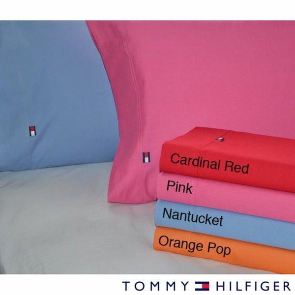 Tommy Hilfiger Solid Sheet Sets
