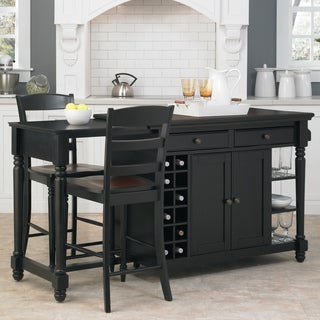 Grand Torino Kitchen Island and Two Stools