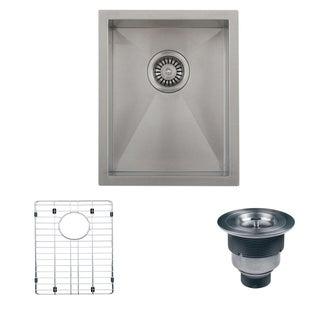 Ruvati RVH7110 Stainless Steel Satin Single Bowl Undermount Kitchen/ Bar Sink