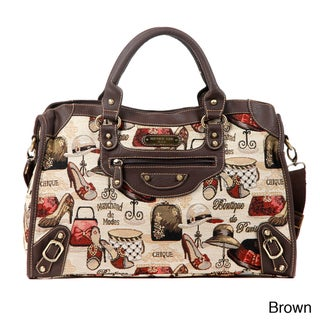 Nicole Lee Lexter Accessories Tapestry Fashion Duffel Bag