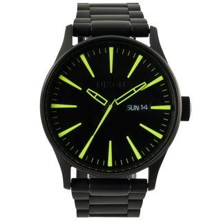 Nixon Men's A3561256-00 Sentry Black Tone Stainless Steel Watch