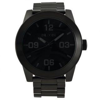 Nixon Men's 'Corporal SS' Black Stainless Steel Analog Watch
