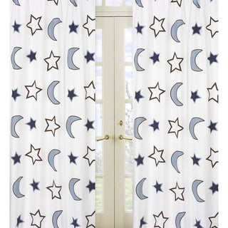 Stars and Moons 84-inch Curtain Panel Pair
