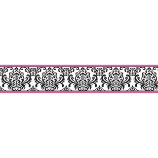 Sweet JoJo Designs Hot Pink, Black and White Isabella Wall Border