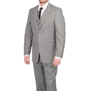 Stacy Adams Men's Medium Grey Two-button Vested Suit