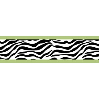 Sweet JoJo Designs Lime Funky Zebra Wall Border