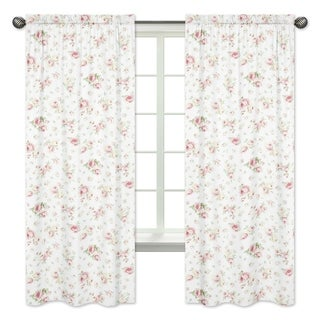 Riley's Roses 84-inch Curtain Panel Pair