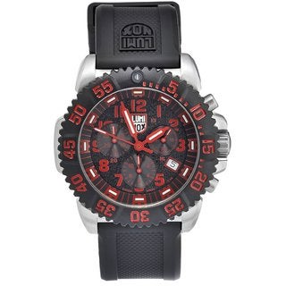 Luminox Men's Navy Seal Steel Colormark Chrono Black/ Red Watch