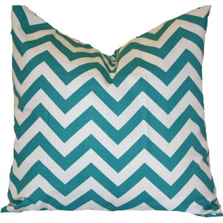 Taylor Marie True Turquoise Chevron Pillow Cover