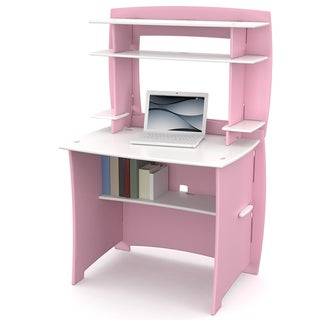 Legare 36-inch Kids&#39; Pink and White Desk and Hutch