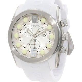 Izod Men's White Monochromatic Rubber Quartz Watch