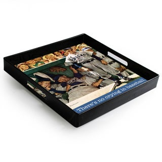 Accents by Jay 'No Crying in Baseball' 14x14-inch Tray