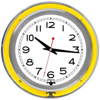 Trademark Games 14-inch Double Ring Neon Clock