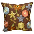 'Milena' Floral Embroidered Jewel Embellished 18x18-inch Throw Pillows (Set of 2)