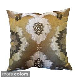 'Puebla' Woven Ikat Themed 18x18-inch Throw Pillows (Set of 2)
