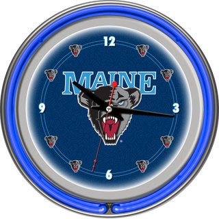 NCAA University of Maine Neon Clock