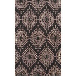 Bob Mackie Hand-tufted Damask Floral Wool Rug (9' x 13')
