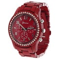 Geneva Platinum Women's Chronograph-style Watch