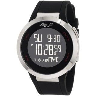 Kenneth Cole Men's 'Digital KC1639' Black Polyurethane Quartz Watch