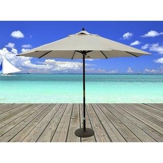 Tropishade 11 Foot Premium Beige Dark Wood Market Umbrella