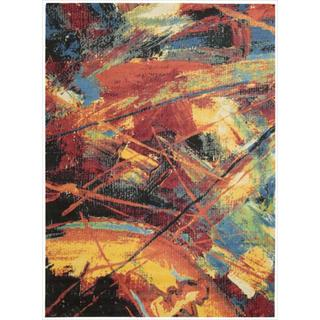 Alter State Edgy Abstract Red/ Multi Rug (5' x 7')