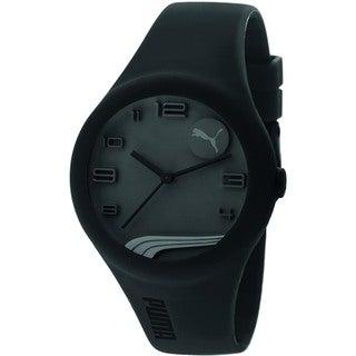 Puma Men's Black Silicone Strap Quartz Watch