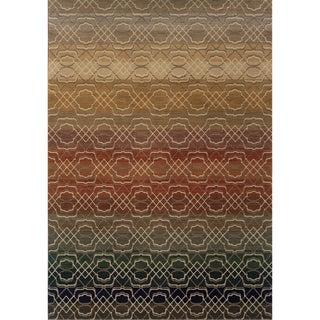 Indoor Grey Multicolored Geometric Area Rug (5'3 X 7'6)