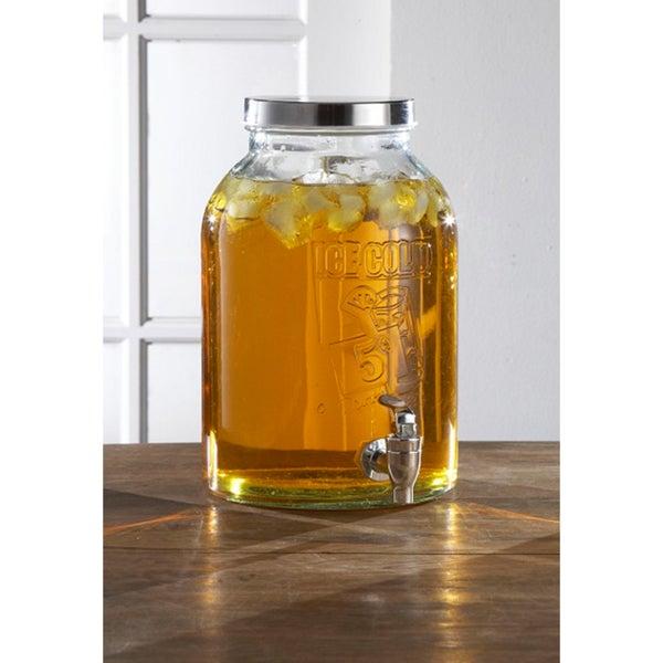 Style Setter Ice Cold 1.74 Gallon Beverage Dispenser