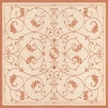 Recife Veranda Natural and Terra-Cotta Area Rug (8&#39;6 x 8&#39;6)