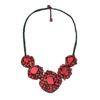 Chic Mosaic Beauty Turquoise Embellished Necklace (Thailand)