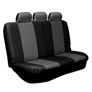 FH Group 2 Tone Gray and Black PU Leather Universal Split Bench Cover