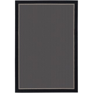 Tides Freeport Black and Grey Rug (3'11 x 5'7)
