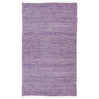 Purple Reversible Chenille Flat Weave Rug (5' x 8')
