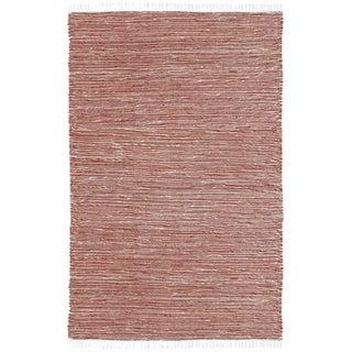 Copper Reversible Chenille Flat Weave Rug (4' x 6')